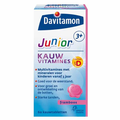 Davitamon junior 3+ chew tablet raspberry 60